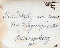 Amatørfotografi 5 x 8 cm på bagsiden med håndskrift elise
